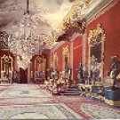 ROYAL PALACE THRONE HALL MADRID SPAIN COLOR PICTURE POSTCARD #363 UNUSED