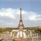 EIFFEL TOWER  PARIS FRANCE COLOR PICTURE POSTCARD #369 UNUSED