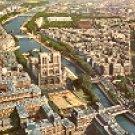 VIEW OF NOTRE DAME & SEINE RIVER PARIS FRANCE COLOR PICTURE POSTCARD #378 UNUSED