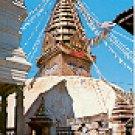 SWAYAMBHUNATH KATHMANDU NEPAL COLOR PICTURE POSTCARD #408 UNUSED