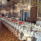ROYAL PALACE GALA DINING ROOM MADRID SPAIN COLOR PICTURE POSTCARD #441 UNUSED