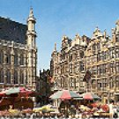GRAND SQUARE BRUSSELS BELGIUM COLOR PICTURE POSTCARD #443 UNUSED