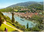 ARIEL VIEW OF HEIDELBERG GERMANY COLOR PICTURE POSTCARD #447 UNUSED