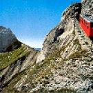 PILATUS SWITZERLAND - STEEPEST RACK RAILWAY IN THE WORLD COLOR PICTURE POSTCARD #452 UNUSED