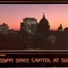 STATE CAPITOL AT SUNSET JACKSON MISSISSIPPI COLOR PICTURE POSTCARD #479 UNUSED