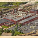 BIRD'S EYE VIEW OF MEAD CORPORATION KINGSPORT TENNESSEE LINEN POSTCARD #513 UNUSED