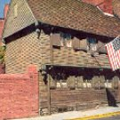 THE PAUL REVERE HOUSE BOSTON MASSACHUSETTS COLOR POSTCARD #534 UNUSED