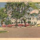 THE WHITE HOUSE HOTEL GAINSVILLE FLORIDA LINEN PICTURE POSTCARD #535 USED 1957