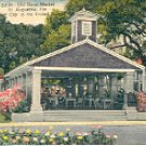 OLD SLAVE MARKET ST. AUGUSTINE FLORIDA OLDEST CITY IN THE U.S. LINEN POSTCARD #542 UNUSED