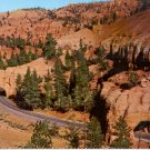 TUNNELS IN RED CANYON APPROACH TO BRYCE CANYON UTAH COLOR POSTCARD #572 UNUSED
