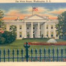 THE WHITE HOUSE WASHINGTON D.C. LINEN POSTCARD #574 UNUSED