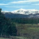 SPECTACULAR BIG HORN MOUNTAINS WYOMING COLOR POSTCARD #576 UNUSED