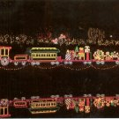CHRISTMAS LIGHTS BG&H TRAIN MIRROR LAKE BELLINGRATH GARDENS MOBILE COLOR PICT POSTCARD #606 UNUSED