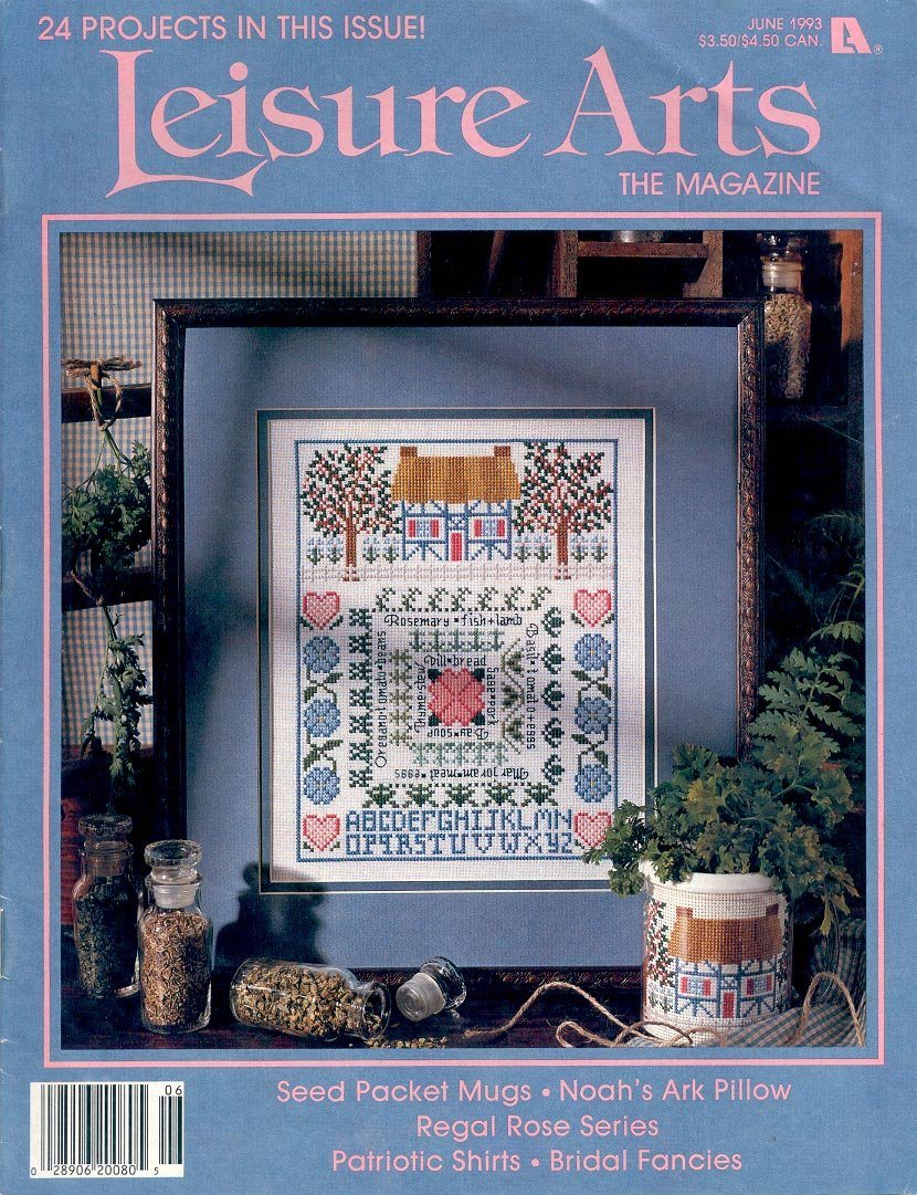 Leisure arts the magazine back issue crafts magazine 24 for Arts and crafts store nearby