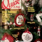 QUICK & EASY CROSS STITCH BACK ISSUE CRAFTS MAGAZINE DECEMBER JANUARY 1991 MINT