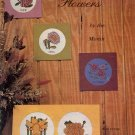 FLOWERS BY THE MONTH CROSS STITCH BOOKLET by THE GRAPH MENAGERIE 1977 CRAFT BOOK NEAR MINT