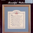 BEAUTIFUL WISHES CROSS STITCH BOOKLET by BONNIE H. HILL 1987 CRAFT BOOK NEAR MINT