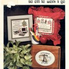 I OWE I OWE SO OFF TO WORK I GO BOOK 48 CROSS STITCH BOOKLET by STONEY CREEK 1986 NEAR MINT