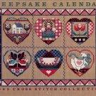 KEEPSAKE CALENDAR 1989 CROSS STITCH COLLECTION NEAR MINT