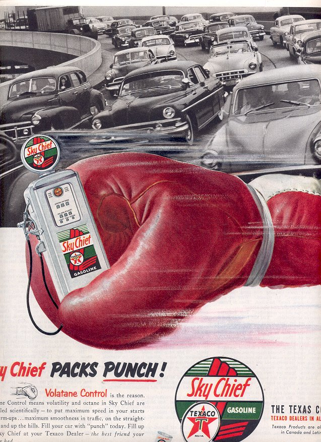 1953 SKY CHIEF TEXACO GASOLINE - THE TEXAS COMPANY MAGAZINE AD  (169)