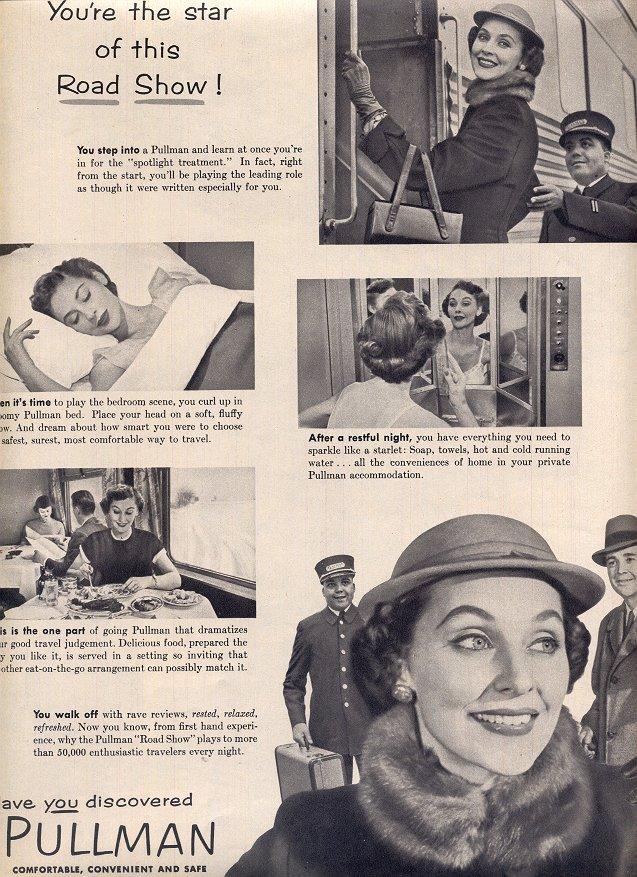 1953  PULLMAN TRAINS COMFORTABLE CONVENIENT AND SAFE MAGAZINE AD  (170)