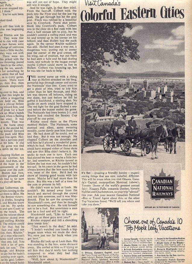 1953 CANADIAN NATIONAL RAILWAYS - COLORFUL EASTERN CITIES MAGAZINE AD  (179)