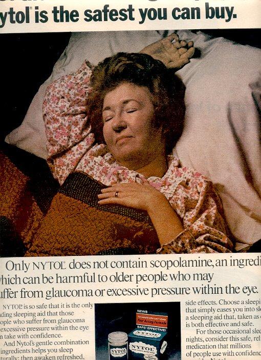 1972 NYTOL SLEEPING AID MAGAZINE AD  (31)