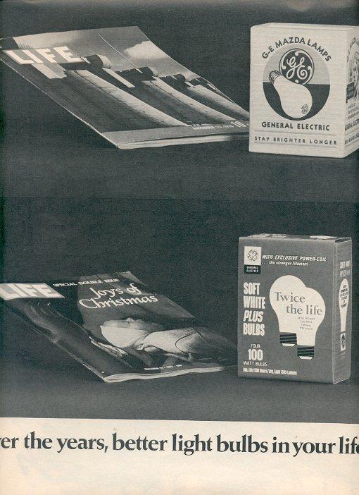 1972 GENERAL ELECTRIC LIGHT BULBS MAGAZINE AD  (34)