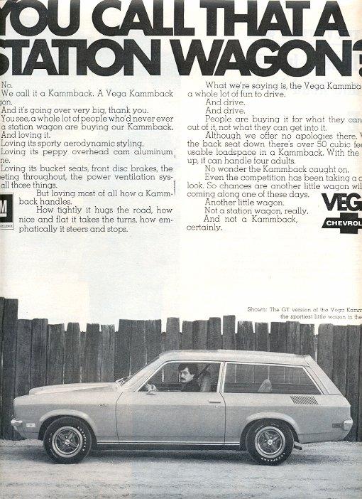 1971 CHEVROLET VEGA STATION WAGON MAGAZINE AD  (59)