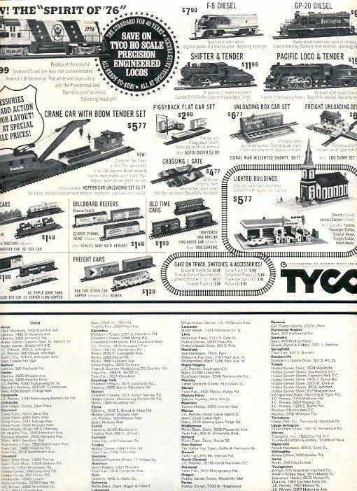 1972 TYCO TRAINS MAGAZINE AD  (61)