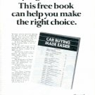 1972 CAR BUYING MADE EASIER WITH FORD MAGAZINE AD  (95)