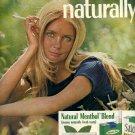 1972 SALEM NATURAL MENTHOL BLEND CIGARETTES MAGAZINE AD  (102)