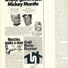 1971 JOHN UNITAS CAUGHT THE WHEAT GERM FROM MICKEY MANTLE MAGAZINE AD  (22)