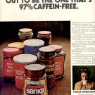 1971 SANKA FREEZE DRIED COFFEE MAGAZINE AD  (103)