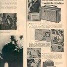 1959 GENERAL ELECTRIC TRANSISTOR PORTABLE RADIOS MAGAZINE AD  (157)