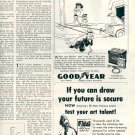 1953 GOOD YEAR DOUBLE EAGLE BATTERY MAGAZINE AD  (199)