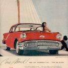 1957 GOLDEN ROCKET 88 HOLIDAY COUPE OLDSMOBILE MAGAZINE AD  (204)