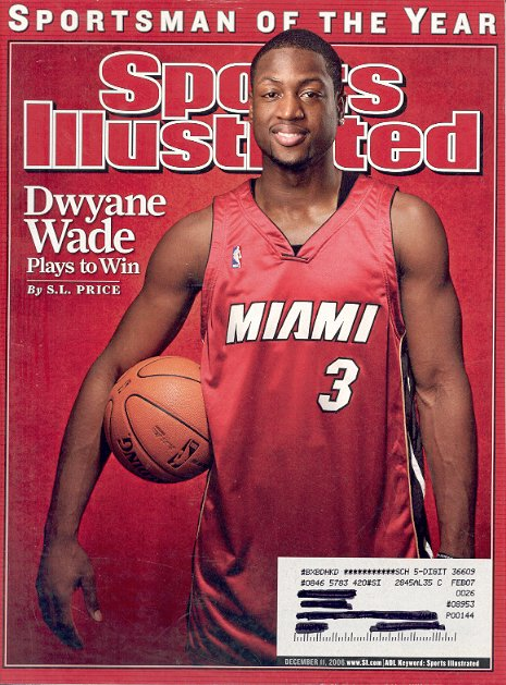 SPORTS ILLUSTRATED MAGAZINE DECEMBER 11 2006 DWYANE WADE SPORTSMAN OF THE YEAR BACK ISSUE MINT