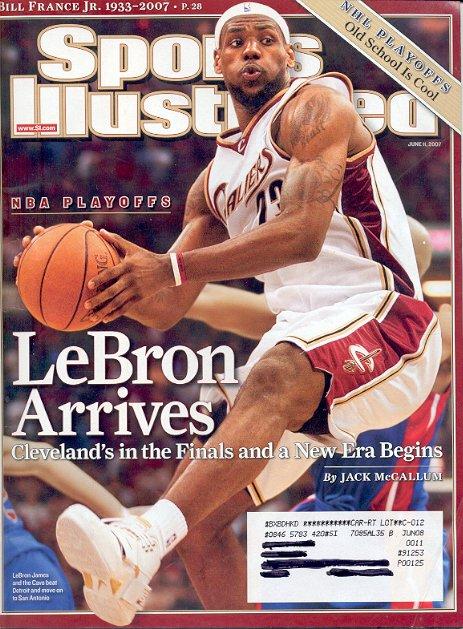 SPORTS ILLUSTRATED MAGAZINE JUNE 11, 2007 NBA PLAYOFFS LEBRON BACK ISSUE MAGAZINE NEAR MINT