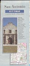 SAN ANTONIO TEXAS CITY MAP BY GOUSHA TRAVEL 1987 NEAR MINT