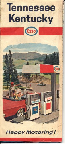 TENNESSEE - KENTUCKY ESSO HAPPY MOTORING TRAVEL MAP 1966
