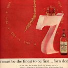 1957  SEAGRAM'S 7 CROWN WHISKEY MAGAZINE AD (216)