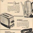 1957 UNIVERSAL APPLIANCES SPRINGTIME SALE DOUBLE PAGE MAGAZINE AD (226)