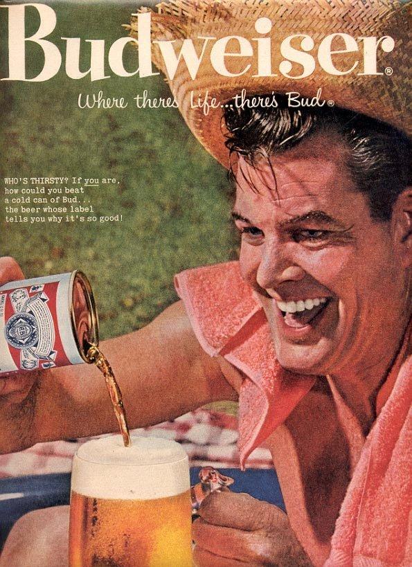 1959 BUDWEISER BEER - ANHEUSER BUSCH MAGAZINE AD (236)