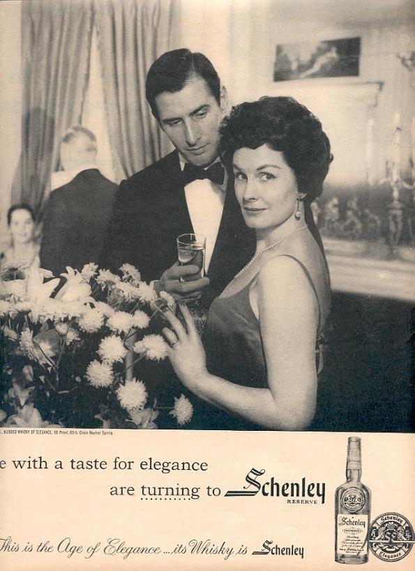 1959 SCHENLEY RESERVE WHISKEY MAGAZINE AD (243)