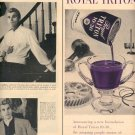 1957 ROYAL TRITON 10-30 PURPLE MOTOR OIL - UNION OIL COMPANY OF CALIFORNIA MAGAZINE AD (244)