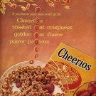 1958 CHEERIOS CEREAL BY GENERAL MILLS MAGAZINE AD (251)
