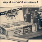 1958 NEW PHILLIES PANATELLA MILDEST CIGARS MAGAZINE AD (253)