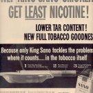1958 SANO KING SIZE CIGARETTES MAGAZINE AD (260)