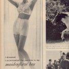 1959 MAIDENFORM BRA & MAIDENFORM GIRDLE DOUBLE PAGE MAGAZINE AD (282)